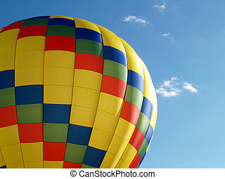 hot air balloon - Colorful yellow hot air balloon top