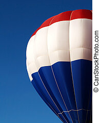 hot air balloon - red, white and blue hot air balloon canopy