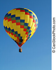 hot air balloon ride - two people in a hot air balloon