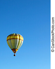 hot air balloon against clear blue sky