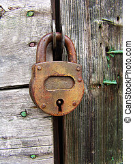 Padlock - An old rusty padlock