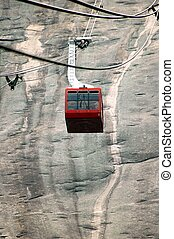 Swiss Cable Car - Photographed Swiss cable car going up a...
