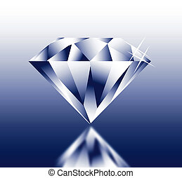 Diamond - 3D Diamond with reflection