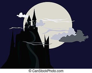 Dark Castle Illustration