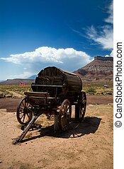 Old west water wagon - Old western water wagon