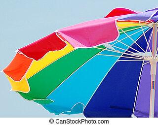 Beach umbrella on Wightsville Beach