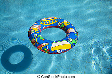 ring - life buoy in a swimming pool