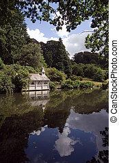 Boathouse - Summer boathouse on a lake