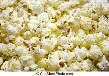 Popcorn Closeup - Closeup of oil-popped popcorn