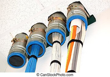 Cables in conduit - Voice, Data and Fiber cables, coming...