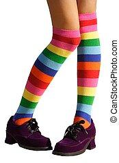 Bashful Legs - Awkward, bashful, schoolgirl legs in...