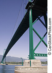 Metal Long Bridge - The lions gate suspension bridge in...