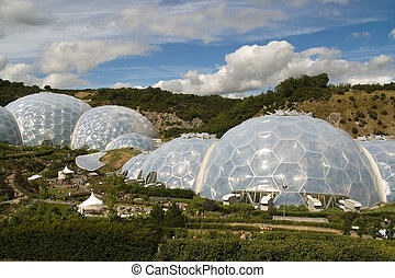 Cornwall Eden Project - The domes of the Eden Project in...