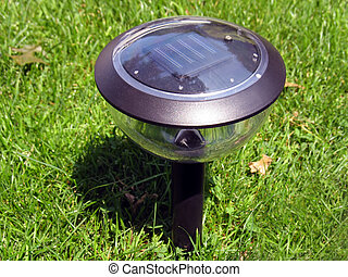 solar lamp - a solar-powered garden lamp