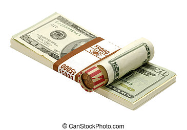 Money - Photo of a Penny Roll and Cash Wrapper
