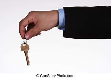 Handover Key - Close-up of people handover key.