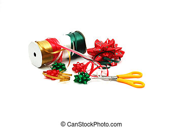 Christmas Wrap - The supplies needed to wrap a beautiful...