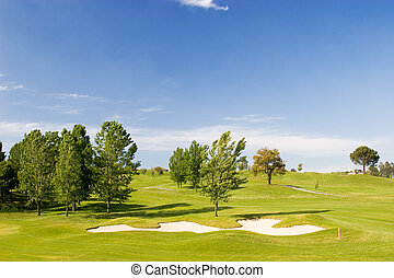 Golf Course - Golf course on spring/summer day