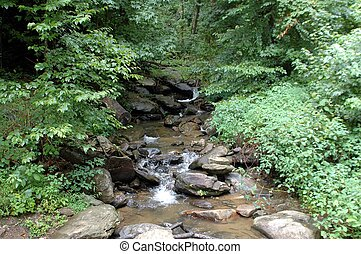 Creek - Photographed creek at bottom of waterfalls in...