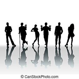 Informal Poses - Informal pose silhouettes