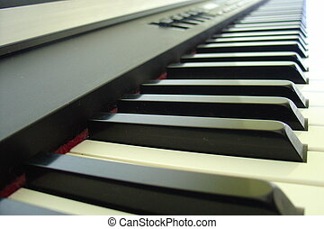 Electronic keyboard closeup