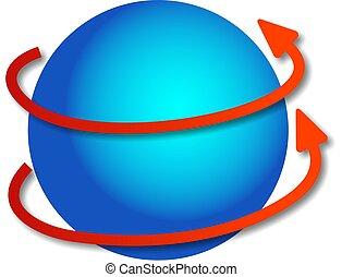rotating globe - spinning around and around