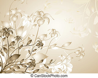 Floral background - Abstract floral background