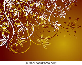 Floral decoration - Abstract floral background