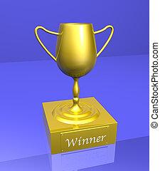 ganadores, trofeo, 2