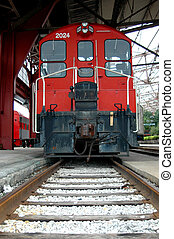 Old Train Caboose - Old red caboose