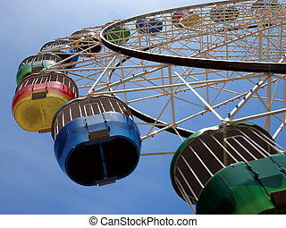 Ferris wheel - A colourful ferris wheel in Australia.