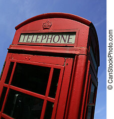 British call box - A British call box, or phone booth, in...