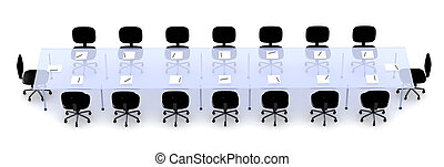 Conference Table 1 - 3D Illustration.