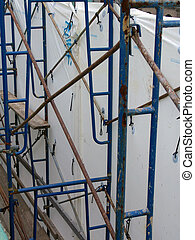 scaffold and tarp - scaffolding and surrounding tarp shown...