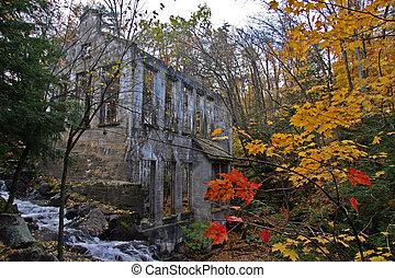 Autumn Ruins - Wilison Ruins in Gatineau, Quebec