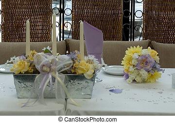 dinner table - a pretty dinner table