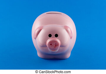 Piggy Bank - front-on - Front view of a piggy bank