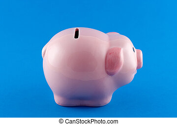 Piggy Bank Side-On - Sideways view of a piggy bank
