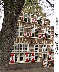 Leiden, old faAtilde;sect;ade - Stadstimmerwerf, Leiden, old...