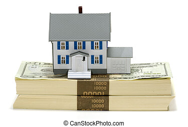 Home Equity - Miniature House on Top of Cash - Home Equity...