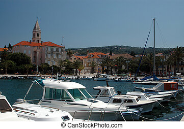 beautiful port - beautiful harbor port supetar in europe...
