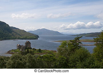Highlander Castle - Eilean Donan Castle in Scotland where...