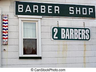 Barber Shop 2 - Side view of a barber shop.
