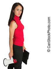 Business Woman #544 - Portrait of a brunette woman,, wearing...