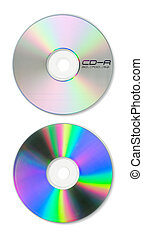 Blank CD Top and Bottom - A blank CD with guides and paths...