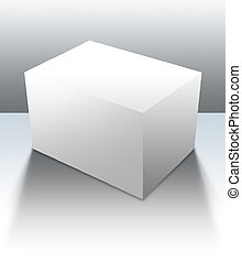 Blank Box 04 - A blank box ready for your product - clipping...