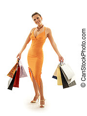 Shopping euphoria #2 - happy girl with shopping bags