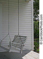 Porch Swing - Old wooden porch swing