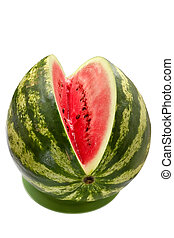 Water-melon - Juicy water-melon with the cut out piece