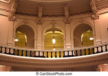 Inside the State Capitol Building in downtown Austin, Texas...